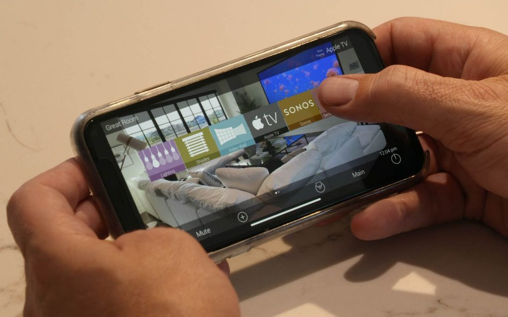 Smart home controls on device