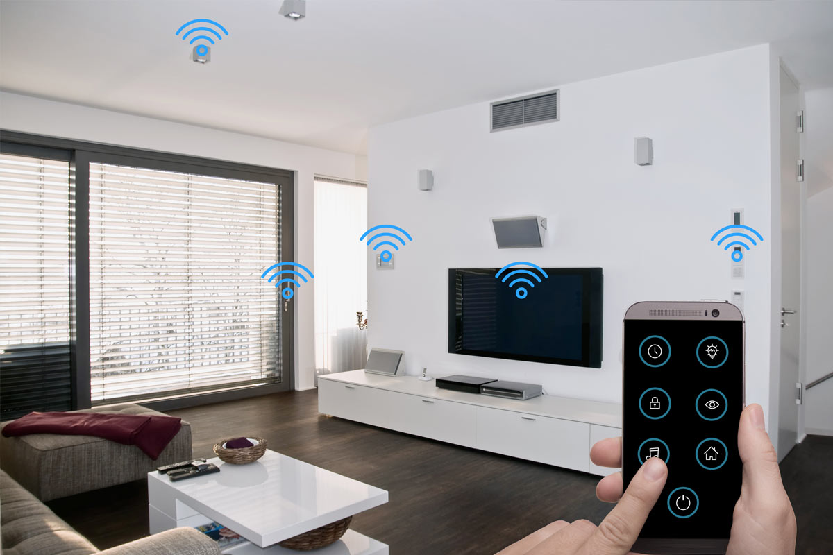 Room with WiFi devices
