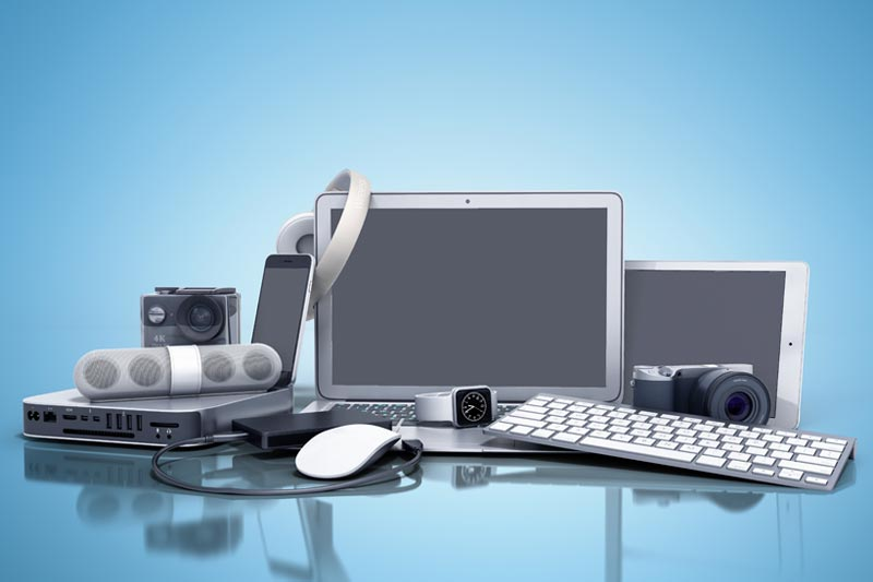 Stack of Technology Devices
